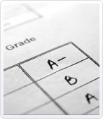 Report card with A's and B's